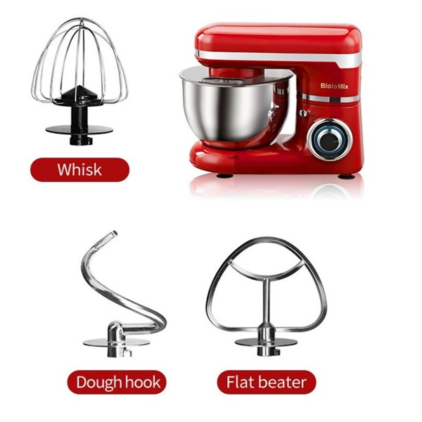 110V Tilt-Head Stand Mixer With Stainless Steel Bowl Household Mixers Kitchen Electric Dough Mixer,6 Speed,3 Function-head offer