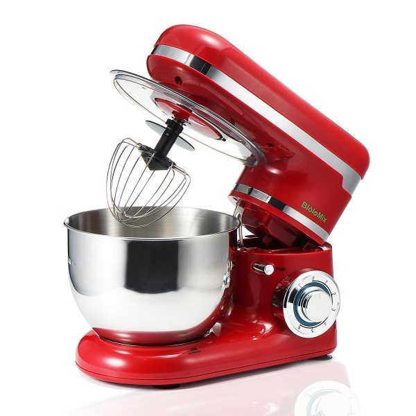 110V Stainless Steel Electric Food Stand Mixer With Bowl Dough Hook Titl-Head Kitchen