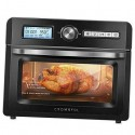 19 Quart Air Fryer Toaster Oven, Convection Roaster with Rotisserie & Black