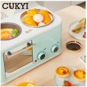 CUKYI Electric 3 in 1 Household Breakfast machine mini bread toaster baking oven
