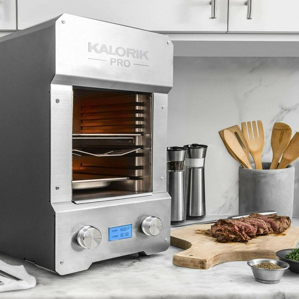 *New* Kalorik Pro1500 Electric Steakhouse Grill, Stainless Steel