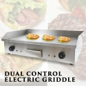 Commercial Electric Griddle BBQ Grill Plate Hot Stainless Steel Countertop 4400W