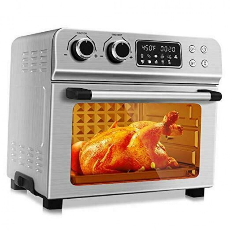 1700W Stainless Steel 10-in-1 Air Fryer Oven with Dehydrator/Rot